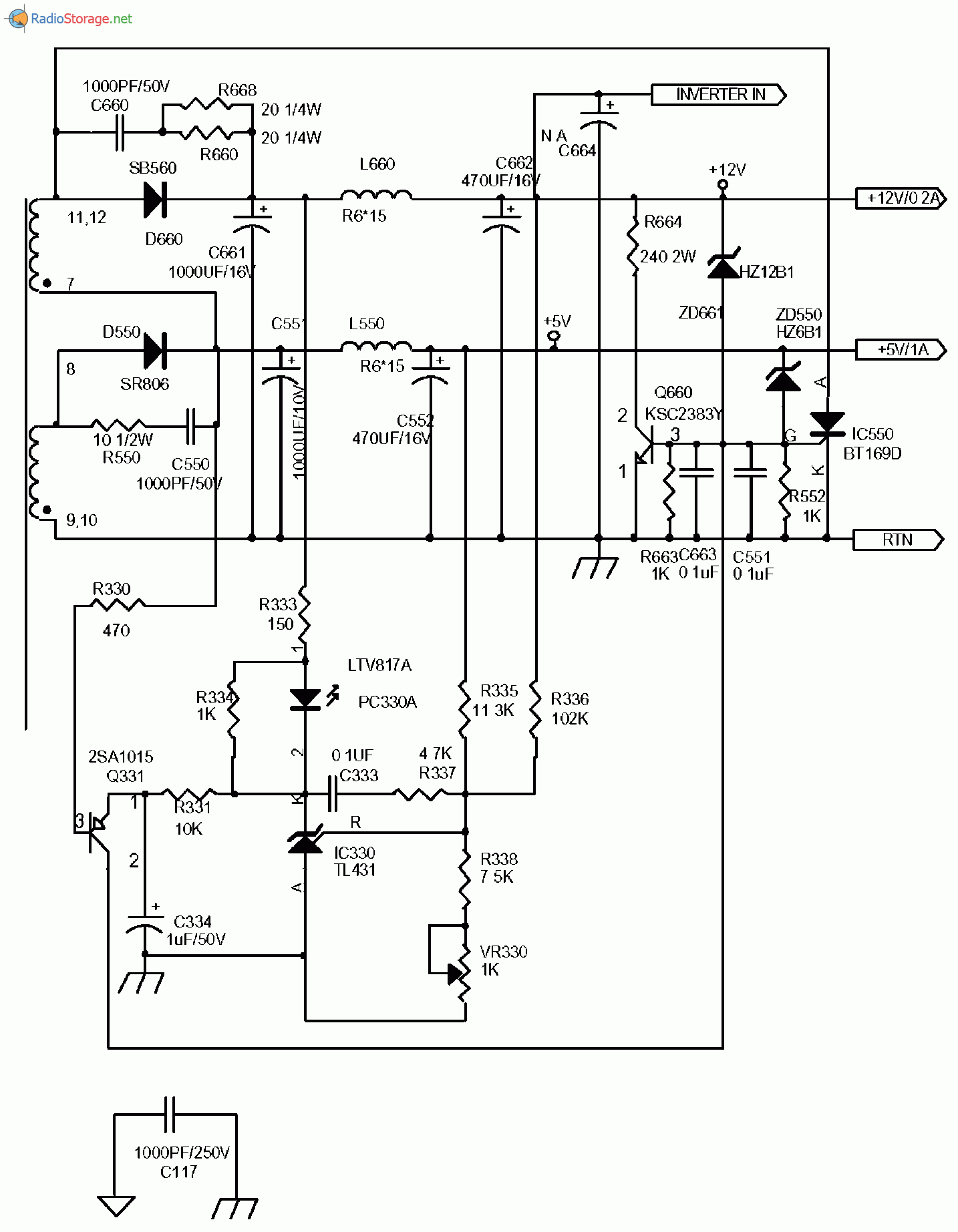 Схема бп для монитора