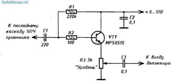 ...preobrazovateli urovnej i signalov Синхронный АМ детектор (NE602AN) .