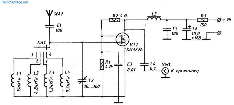 Схема преселектора для