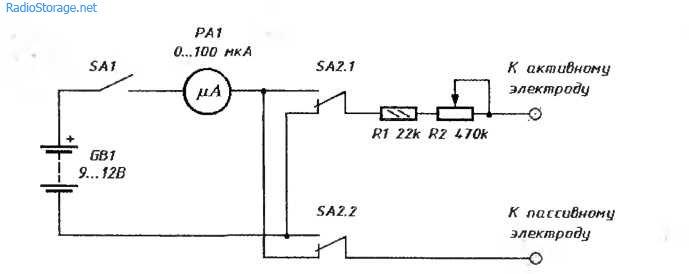 Схема прибора, измеряющего