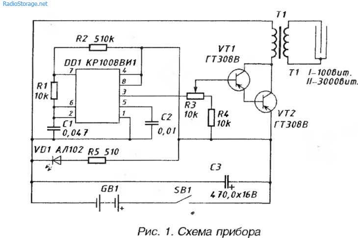 Схема прибора Шмель - для