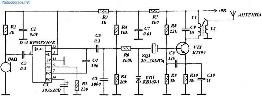 Радиомикрофон на 27МГц