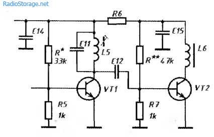 Доработка усилителя мощности передатчика, схема