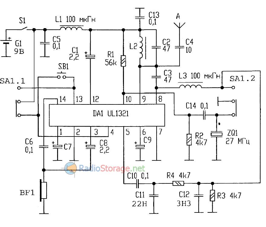 микросхеме 27 МГц (UL1321)
