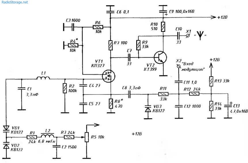 ЧМ-передатчик 80-150 МГц на