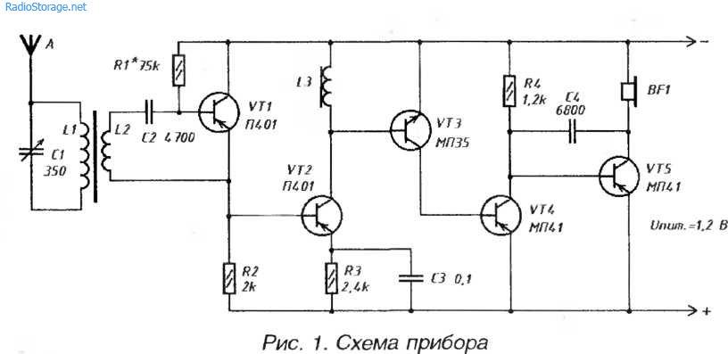 Миниатюрный приемник СВ-ДВ с