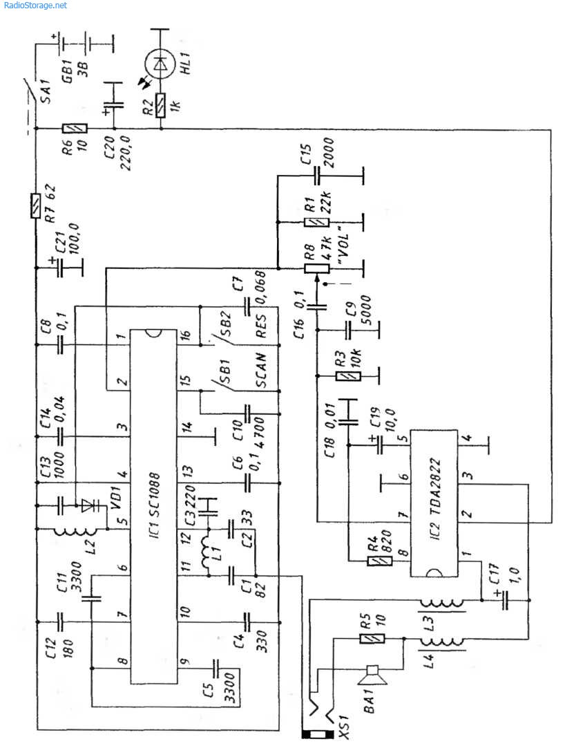Fm Palito Sc1088 Radio Circuit Diagram