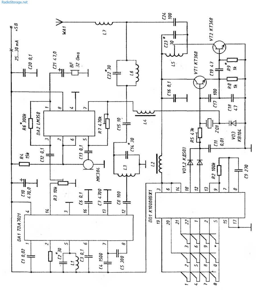 схема самодельного радиомикрофона