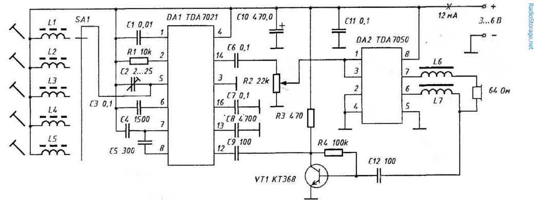 Основу приемника (рис. 1) составляет микросхема DA1TDA7021, которая представляет собой супергетеродин с одним...