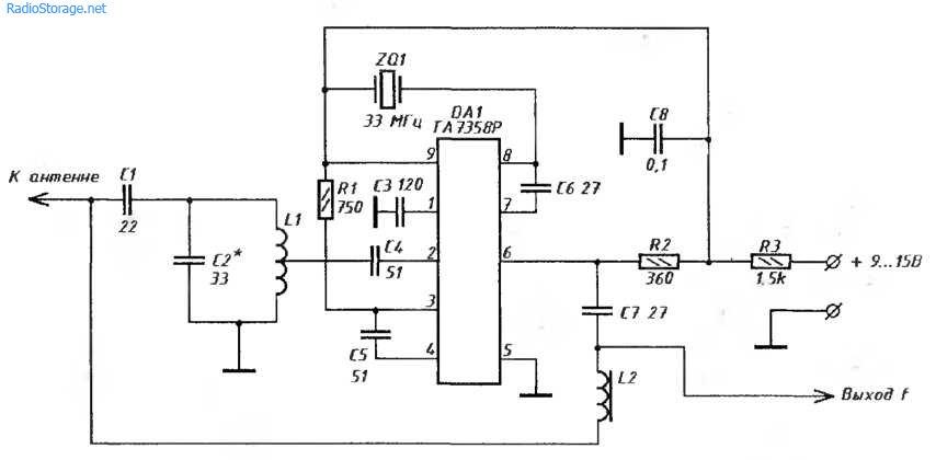 УKB-конвертер 88-108МГЦ в 55-