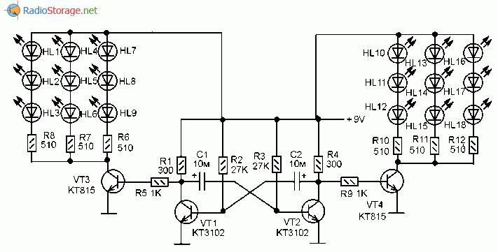 Как сделать схему из светодиодов 22