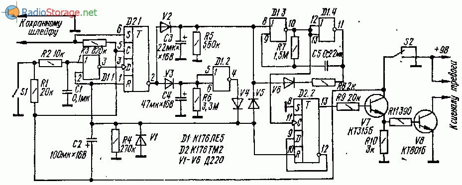Схема несложного электронного