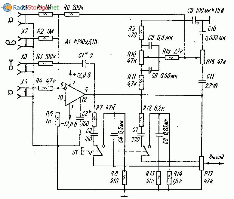 Принципиальная схема предварительного усилителя фото 266
