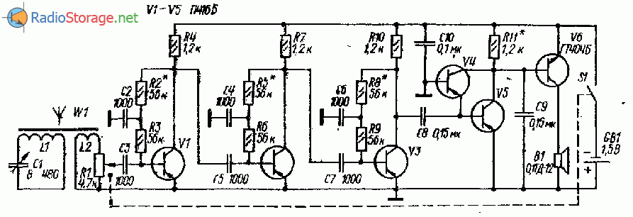 Схема радиоприемника с