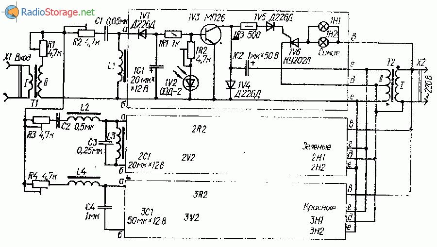 Схема светомузыки на