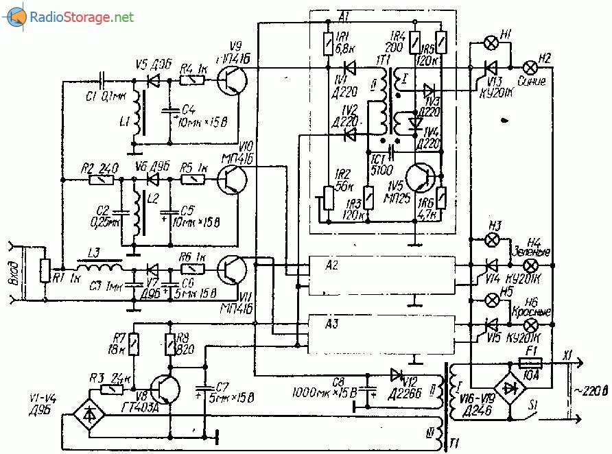 Схема светомузыки с