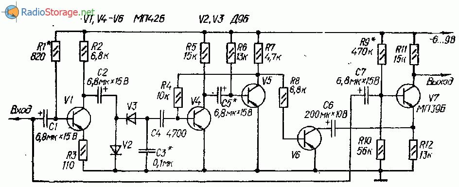 Схемы дисторшн приставок к