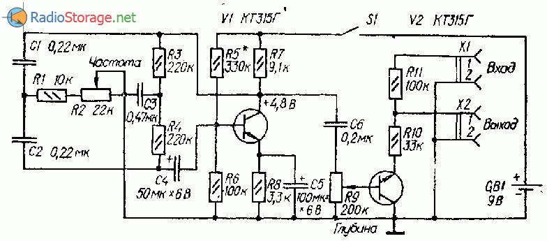 на двух транзисторах