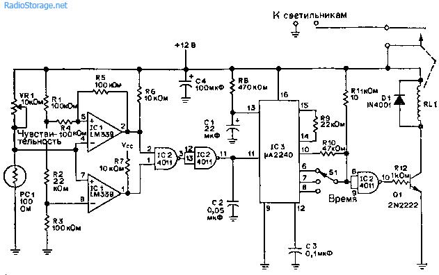 Система освещения приусадебного участка