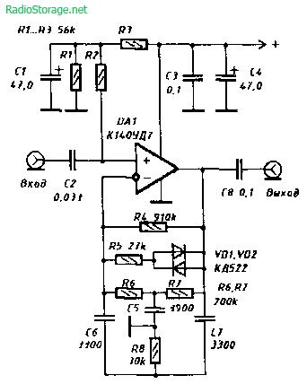 Схема простого гитарного