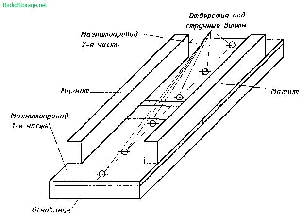 Намотка помехозащищенных звукоснимателей для электрогитары