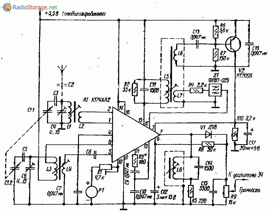 Приемник на К174ХА2 с АРУ