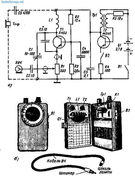 В пределах основного диапазона частот прибор градуируют при помощи гетеродинного индикатора...  Рис. 102.