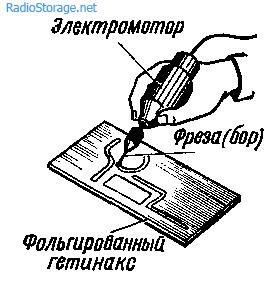 Изготовление печатной платы методом гравировки