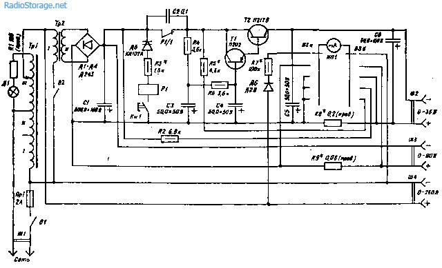 С помощью универсального источника питания (УИП) можно питать транзисторное устройство, портативные магнитофоны.