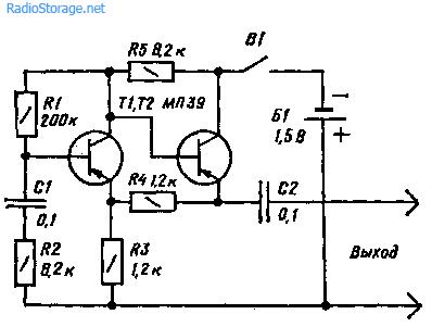 Схемы простых генераторов пробников щупы