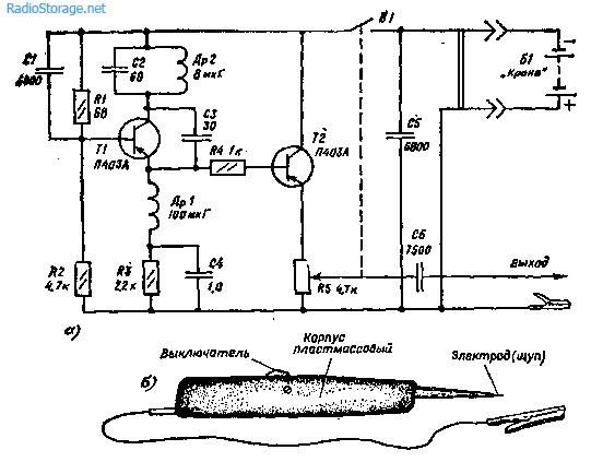Электрический щуп схема
