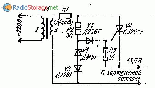 Тиристорное зарядное