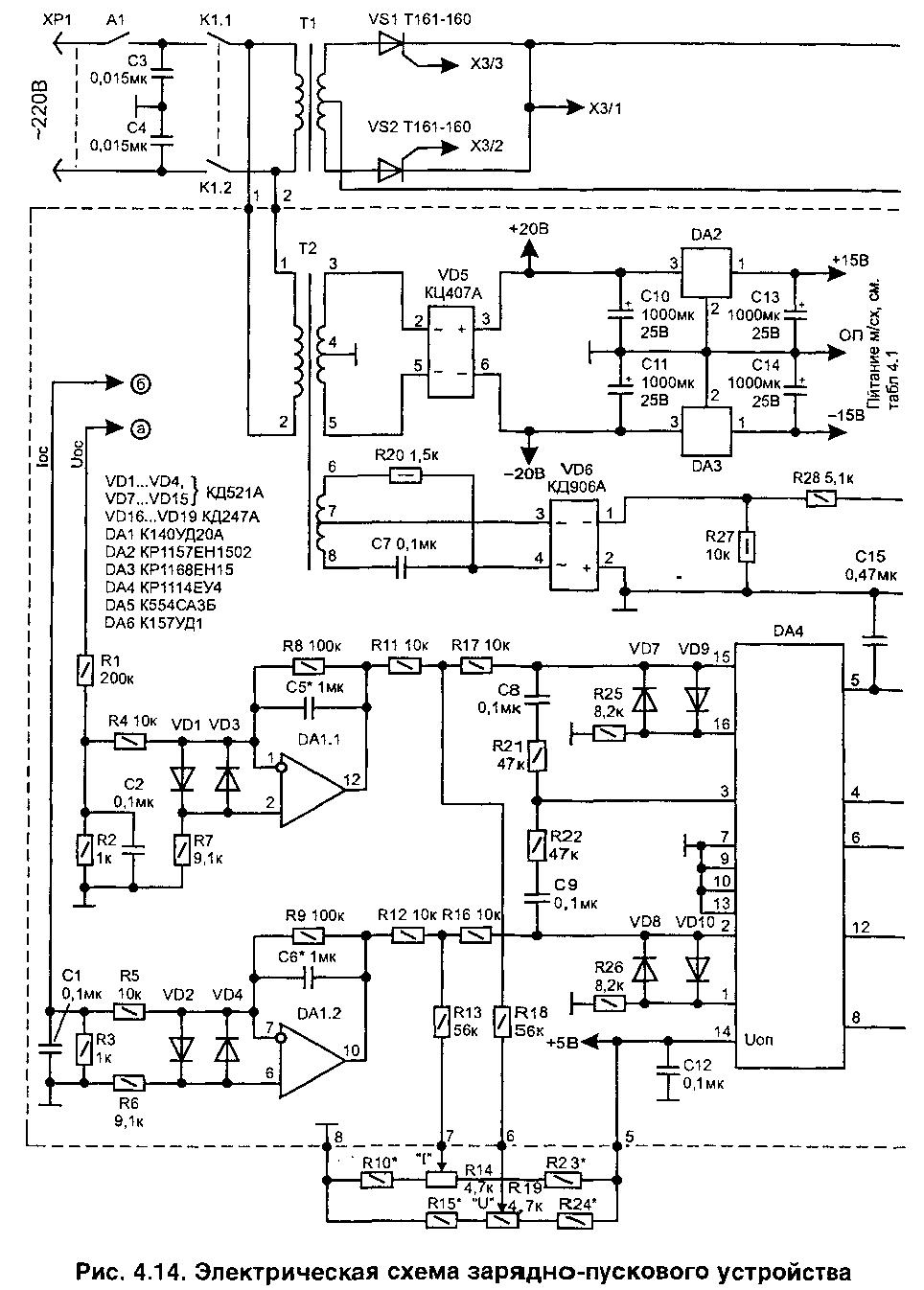 Автоматическое зарядно-пусковое устройство для автомобильного аккумулятора.