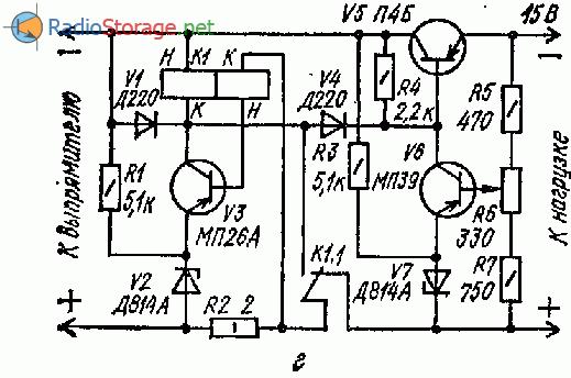 Электронно-механическое устройство защиты, принципиальная схема