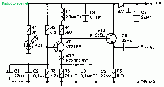 генератор шума ЗЧ на двух
