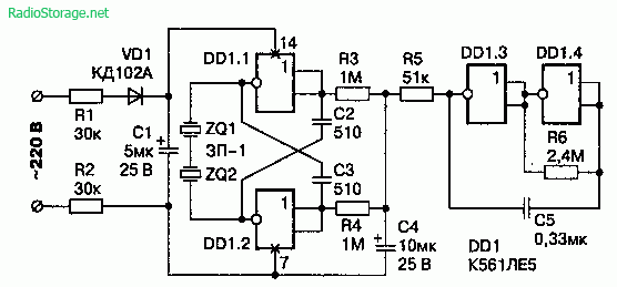 Схема модулятора стекла для