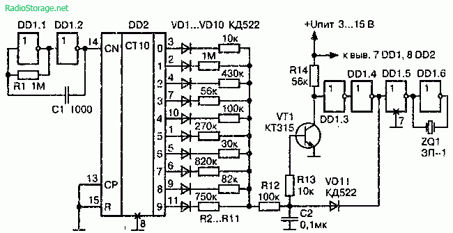 цифровых схемах 561 серии