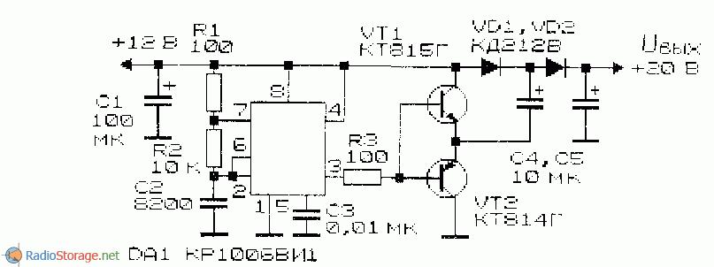 Рис. 15. Схема преобразователя