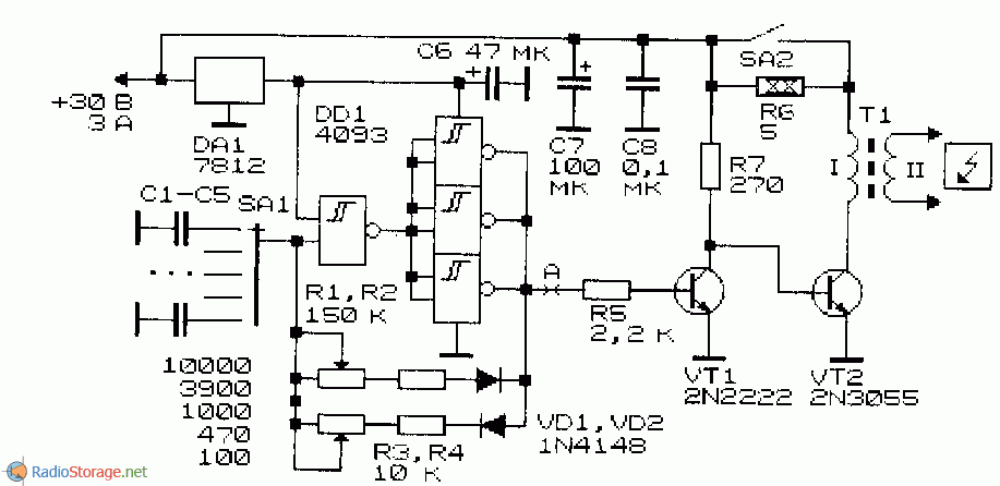 Электрическая схема генератора