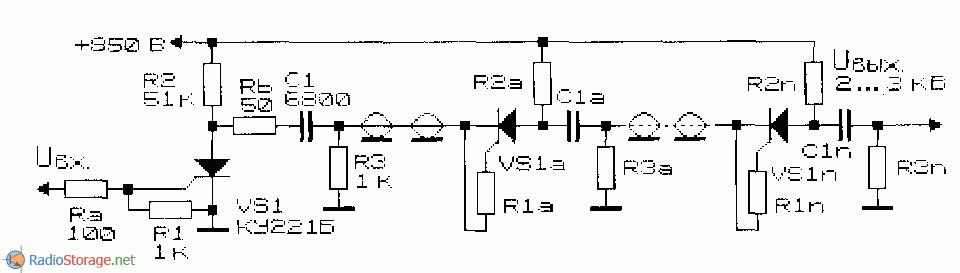 Схема формирователя коротких