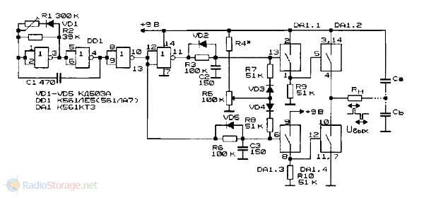 Схема формирователя импульсов