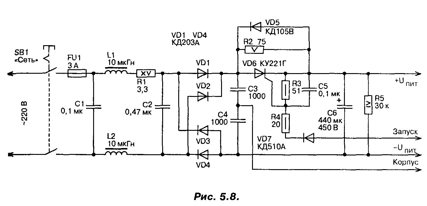 Схема импульсного тока