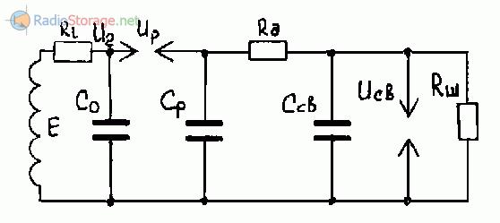 Эквивалентная схема системы зажигания