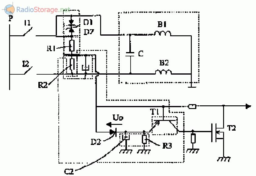 Прибор для остановки однофазного асинхронного двигателя с фазосдвигающим конденсатором