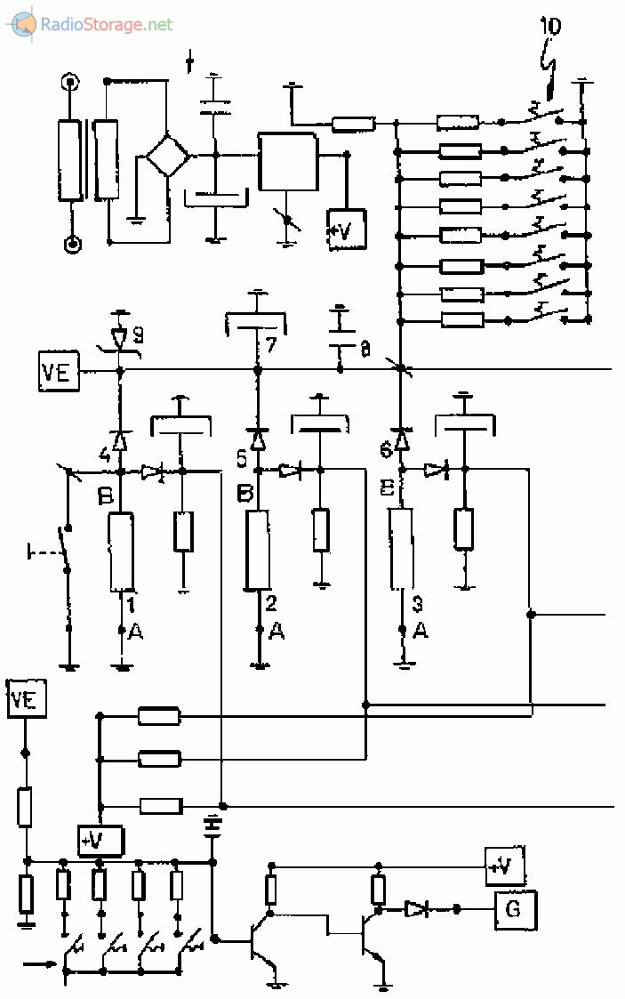 Прибор для измерения нагрузок вращающейся системы от действия ветра - схема