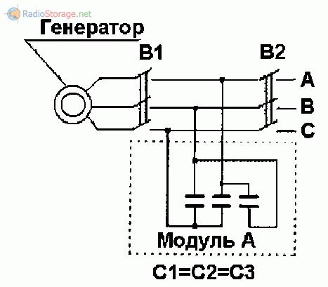 Схема включения асинхронного двигателя с короткозамкнутым ротором в качестве генератора