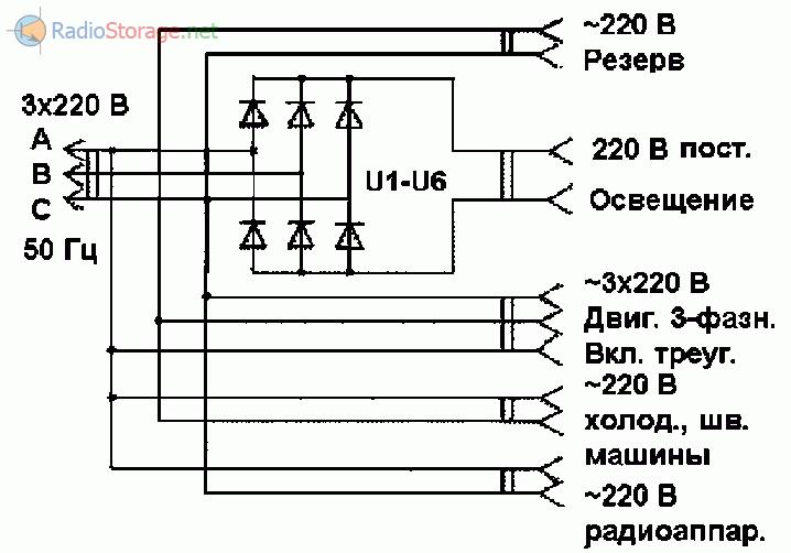Ветряная электростанция на базе асинхронного электродвигателя