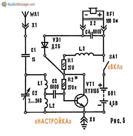 на одном транзисторе КТ315