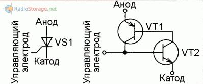 Транзисторный аналог тринистора