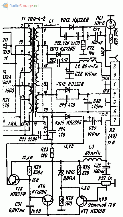 Схема на телевизор радуга